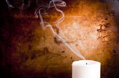 Candle smoke trails Stock Photos