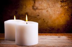 Stock Photo of white candles