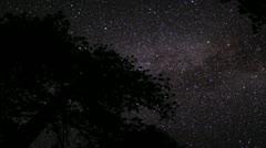 4K Lassen Timelapse Astrophoto 05 Milky Way Zoom Out Stock Footage