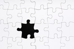 Jigsaw puzzle missing piece Stock Photos
