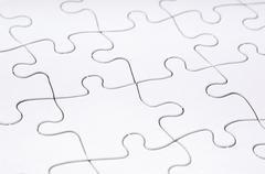 Jigsaw puzzle blank Stock Photos