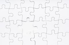jigsaw puzzle missing piece - stock photo