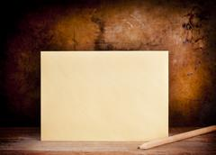vintage envelope background - stock photo