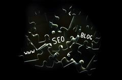 seo puzzle - stock photo