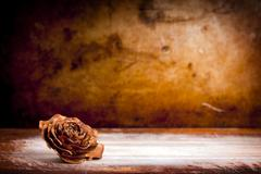 Wooden rose background Stock Photos