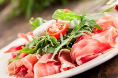 Stock Photo of bacon arugula salad