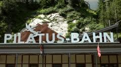 Pilatus Base Train Station Stock Footage