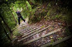 Stock Photo of woman jungle hiker