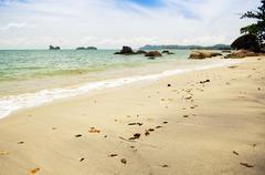 malaysian beach - stock photo