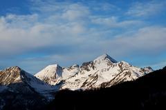 Winter alp mountains Stock Photos