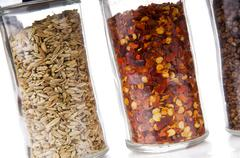 spice jars - stock photo