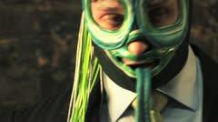Luchador Masked Wrestler Photo Shoot Close Up HD Stock Footage