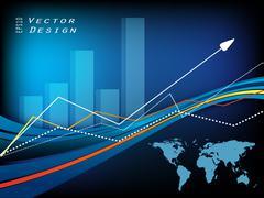 Growth statistic  frame. eps10 Stock Illustration