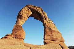 Arch in arches national park, utah Stock Photos