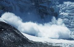 avalanche in himalaya - stock photo