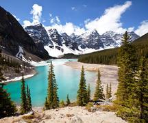 Stock Photo of moraine lake in canada