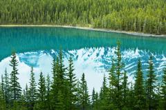 moraine lake in canada - stock photo