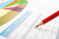 market report - stock photo