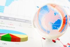 world finances - stock photo