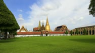Wat Phra Kaew in Bangkok, Thailand. Stock Footage