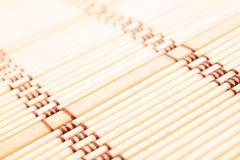 Light bamboo carpet Stock Photos