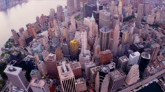 Aerial view Manhattan, New York, USA, - stock footage