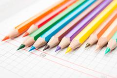 Pencils on a white background Stock Photos
