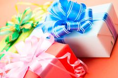 gift boxes - stock photo