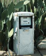 retro gas-station - stock photo