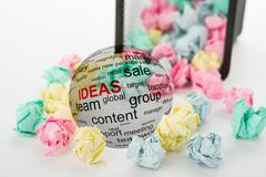concept of ideas in business - stock photo