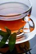 Cup of black tea Stock Photos