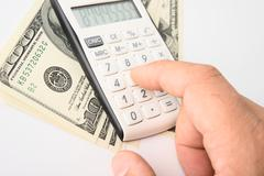 concept of finances - stock photo