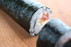 preparation sushi - stock photo