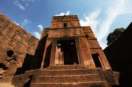 Stock Photo of church of st george, lalibela