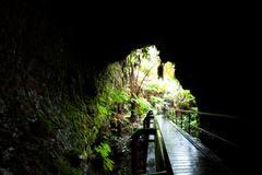 lava tube - stock photo