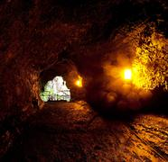 lava tube - stock photo