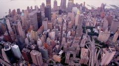 Aerial view 1 WTC, Manhattan, New Jersey, New York, USA, Stock Footage