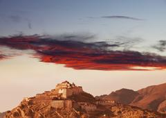 Monastery in tibet Stock Photos