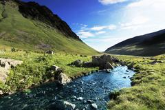 Stock Photo of creek in mountains
