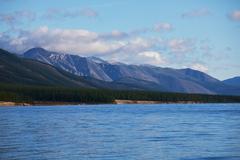 Stock Photo of mountain lake hotton
