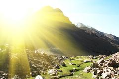 Stock Photo of morning in mountains