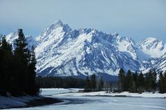 rocky mountains - stock photo