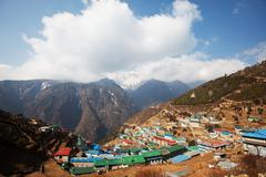 namche bazaar - stock photo