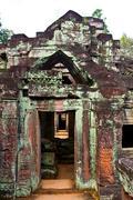 angkor ruins - stock photo