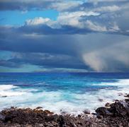 sea in storm - stock photo