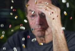 man with pharmaceuticals - stock photo