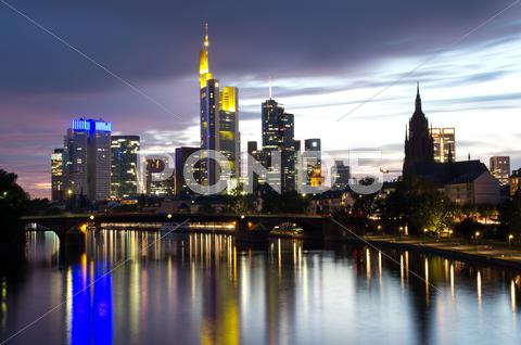 Stock photo of frankfurt skyline