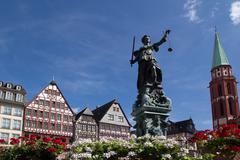 romer in frankfurt - stock photo