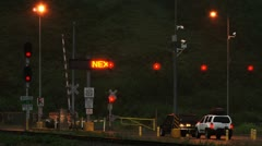 Whittier Tunnel-Cars Waiting for Traffic Release Stock Footage