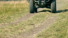 Quad bike cross country Stock Footage